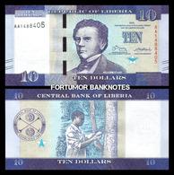 LIBERIA - 10 DOLLARS - 2016 - UNC - Liberia