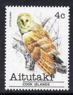 AITUTAKI - 1981 4c OWL BIRD STAMP FINE MNH ** SG 324 - Aitutaki