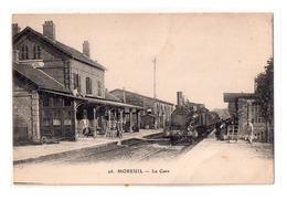 Moreuil Train En Gare Beau Plan - Moreuil