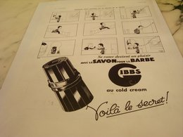 ANCIENNE PUBLICITE SE RASER DEVIENT UN PLAISIR GIBBS 1935 - Perfume & Beauty