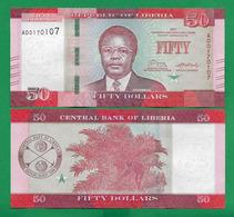 LIBERIA - 50 DOLLARS - 2017 - UNC - Liberia