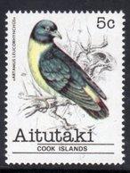 AITUTAKI - 1981 5c SWALLOW BIRD STAMP FINE MNH ** SG 326 - Aitutaki