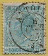 +MW-4464    ANTOING      Dubbel    Cirkel      OCB  18 - 1865-1866 Profil Gauche