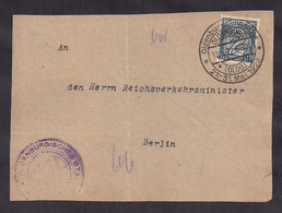 Deustches Reich - 1922 - Brieffragment - Postkarte - Storia Postale