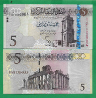 LIBYA - 5 DINAR – 2015 - UNC - Libya