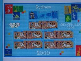 France 2000- J.Olympiques De SYDNEY (Australie) Différentes Disciplines Réunies Sur Feuillet 10 Timbres N°31A - Neuf MNH - Mint/Hinged