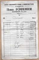 Documents Commerciaux > France > Agriculture 03 Sorbier Henri FOURNIER Charbons - Agriculture