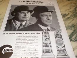 ANCIENNE PUBLICITE VOTRE BARBE CHOISIRA GIBBS  1935 - Perfume & Beauty