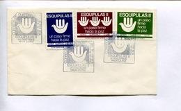 ESQUIPULAS II, UN PASO FIRME HACIA LA PAZ. ENVELOPE GUATEMALA 1988 FDC DIA DE EMISION -LILHU - Guatemala