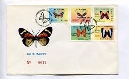 MARIPOSAS DE ECUADOR / PAPILLONS / BUTTERFLIES. ENVELOPE ECUADOR 1997 FDC DIA DE EMISION -LILHU - Schmetterlinge