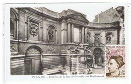 CPA-1962-1er JOUR-BOUCHARDON-FONTAINE DE LA RUE DE GRENELLE- - Timbres