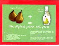 CP Grand Format, Recette De Cuisine, Pain D'épices Perdu Aux Poires, Alcool De Poire, Normandie - Recettes (cuisine)