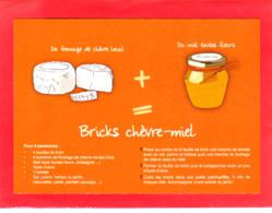 CP Grand Format, Recette De Cuisine, Bricks Chèvre - Miel, Fromage, Normandie - Recettes (cuisine)