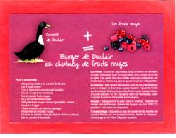 CP Grand Format, Recette De Cuisine, Burger De Duclair Au Chutney De Fruits Rouges, Normandie - Recettes (cuisine)