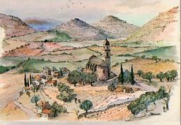 LE VILLAGE DE PATRIMONIO (AQUARELLE DE ROBERT LÉPINE) - Andere Zeichner