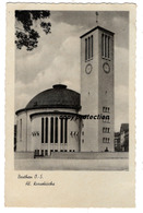 Beuthen O.-S., Hl. Kreuzkirche, Bytom, Alte Postkarte 1941, Feldpost - Pologne