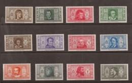 Italie / Série Célébrités N° 283/294 Neuf Sans Charnières  Cote : 85,00€ - Italy