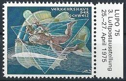 """Vignette  """"Verkehrshaus Der Schweiz - LUPO 75""""  (Erni)         1975 - Zwitserland"""