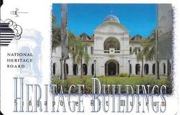 CARTE-MAGNETIQUE-1990 -10$-SINGAPOUR-HERITAGE BUILDING-TBE - Singapour