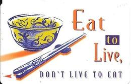 CARTE-MAGNETIQUE-1990 -10$-SINGAPOUR-EAT TO LIVE-TBE - Singapour