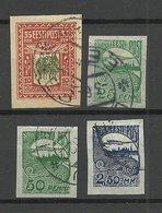 FAUX Estland Estonia 1919/20 = 4 Alte Fälschungen Forgeries FAKE O - Estland