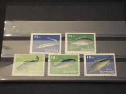 COREA NORD - 1962 PESCI 5 VALORI - NUOVI(++) - Corée Du Nord