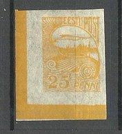 ESTLAND ESTONIA 1924 Michel 53 Nice Corner Bogenecke + Color Margin Lines * - Estland