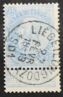 N. 60, 25 Cent Bleu, Obl. Liege (Longdoz) 27/2/1901, NIPA 250 - 1893-1900 Schmaler Bart