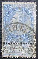 N. 60, 25 Cent Bleu, Obl. Anvers (Zurenborg) 29/10/1901, NIPA 100 - 1893-1900 Schmaler Bart