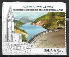 ITALIA  2014 IL SENSO CIVICO SASS. 3514 USATO VF SU FRAMMENTO - 2011-...: Usati