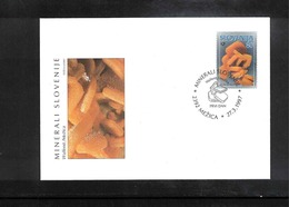Slowenien / Slovenia 1997 Mineral Wulfenit FDC - Mineralien
