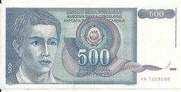 YOUGOSLAVIE 500 DINARA 1990 VF P 106 - Yougoslavie