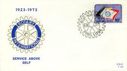 1973 , BÉLGICA , ROTARY INTERNATIONAL , SOBRE CONMEMORATIVO , 4000 LIEGE , 5O ANIVERSARIO DEL CLUB - Rotary, Club Leones