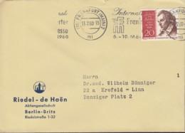 BERLIN 190 EF, Auf Brief Der Fa, Riedel - De Haen, Mit Stempel: Frankfurt M. 11.2.1960 - Briefe U. Dokumente