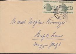 BRD 2x 223 MeF, Auf Brief, Mit Stempel: OHallenberg 31.7.1956, Wohlfahrt: Adolf Kolping 1955 - Covers & Documents