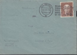 BRD 200 EF, Auf Drucksache, Stempel: Krefeld 18.3.1955 - Lettres & Documents