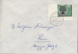 BRD 326 EF, Auf Ortsbrief, Stempel: Krefeld 13.4.1960, Weltflüchtlingsjahr 1960 - [7] République Fédérale