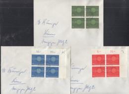 BRD 337-339 4erBlock MeF, Auf Ortsbrief, überfr. Mit Stempel: Krefeld 23.9.1960, Europa CEPT 1960 - [7] République Fédérale