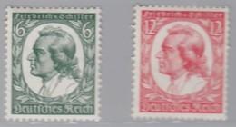 DR 554-555, Postfrisch *, Friedrich Schiller 1934 - Neufs