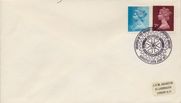 1977 , GRAN BRETAÑA , ROTARY INTERNATIONAL , SOBRE CONMEMORATIVO, COVENTRY - Rotary, Club Leones