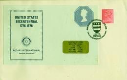 1976 , GRAN BRETAÑA , ROTARY INTERNATIONAL , SOBRE CONMEMORATIVO, LIONS CLUB - ROUND TABLE - Rotary, Club Leones