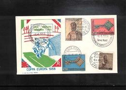 Italy / Italia 1968 Europa Football Cup Interesting Cover - Championnat D'Europe (UEFA)