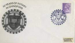 1983 , GRAN BRETAÑA , ROTARY INTERNATIONAL , SOBRE CONMEMORATIVO, CHINGFORD - Rotary, Club Leones