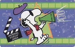 Télécarte Japon / 110-803842 - BD COMICS - Chien SNOOPY ** UNIVERSAL STUDIOS ** - DOG Japan Peanuts Phonecard - 1409 - Comics