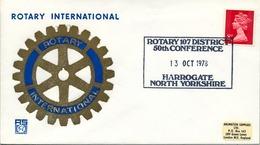 1978 , GRAN BRETAÑA , ROTARY INTERNATIONAL , SOBRE CONMEMORATIVO, HARROGATE - Rotary, Club Leones