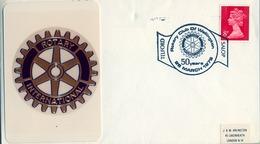 1978 , GRAN BRETAÑA , ROTARY INTERNATIONAL , SOBRE CONMEMORATIVO, WELLINGTON - Rotary, Club Leones