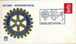 1978 , GRAN BRETAÑA , ROTARY INTERNATIONAL , SOBRE CONMEMORATIVO, CORNWALL - Rotary, Club Leones