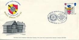 1984 , GRAN BRETAÑA , ROTARY INTERNATIONAL , SOBRE CONMEMORATIVO, NANTWICH - Rotary, Club Leones