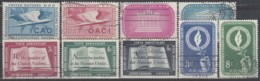 UNO NEW YORK Jahrgang 1955, Gestempelt, MiNr. 35-41, 45-46 - New-York - Siège De L'ONU