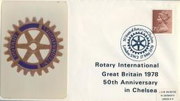 1978 , GRAN BRETAÑA , ROTARY INTERNATIONAL , SOBRE CONMEMORATIVO, CHELSEA - Rotary, Club Leones